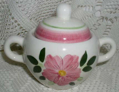 Stangl Pottery Wild Rose Trenton NJ Sugar Bowl with Lid EXCELLENT CONDITION