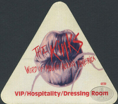 THE KINKS 1984-86 WORD OF MOUTH TOUR Backstage Pass VIP