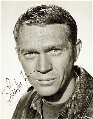 2x Steve McQueen Autograph Signed Photos Preprints 8x10 Glossy Portrait Pictures