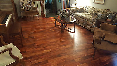 "5"" Acacia Walnut Golden Sagebrush Hand Scraped Hardwood Flooring Floor Sample"