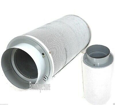 """Lot of Two 6"""" inch Inline Exhaust Air Carbon Filter Odor Control Scrubber 440CFM"""