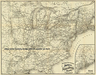 1898 LARGE ATT AT&T UNITED STATES TELEPHONE LINE MAP