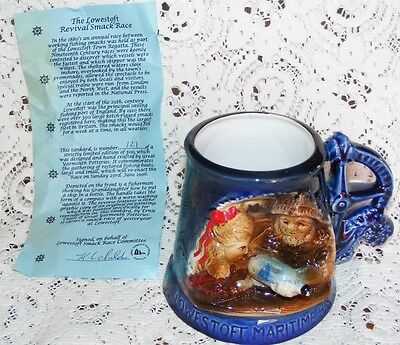 Great Yarmouth Pottery Ltd Edition 1996 Mug  No.121 of 500 Lowestoft Smack Race