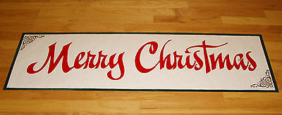 Holiday Paper Banner  Merry Christmas Hand Painted