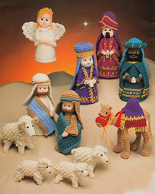 Nativity Set Crochet Pattern Donkey Cow Sheep ~ All the Gang even a Camel !