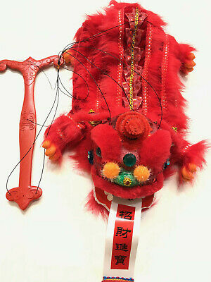 Chinese New Year Lion Dragon Head Dance Puppet