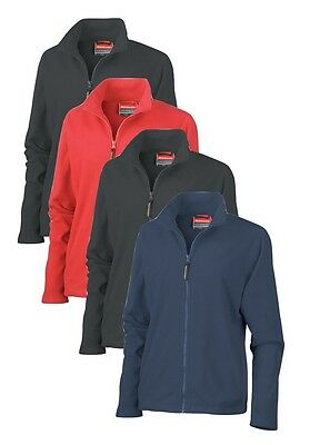 BLACK GREY RED or NAVY DARK BLUE Ladies Womens Polyester Micro Fleece Jacket