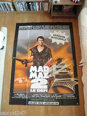 "MAD MAX 2 Mel Gibson HUGE 1981 ORIGINAL FRENCH CINEMA GRANDE POSTER  46"" X 62"""