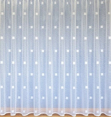 White Modern Voile Net Curtain All Sizes Available