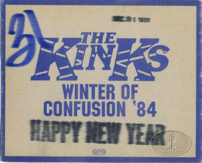 The Kinks 1984 New Year's Eve Backstage Pass