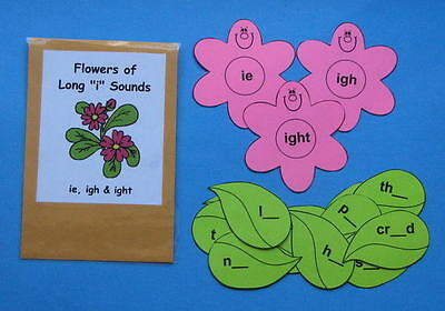 "Teacher Made Literacy Center Resource Game Long ""i"" Sounds ie, igh & ight"
