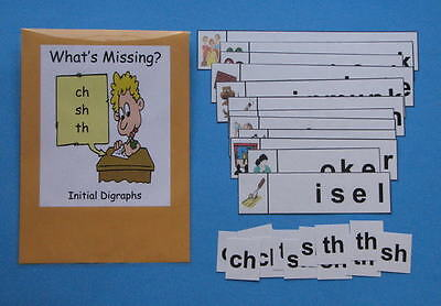 Teacher Made Literacy Center Resource Game Initial Digraphs ch, sh & th