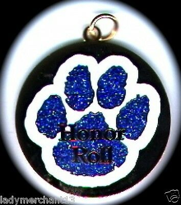 "Rhinestone Blue Paw ""Honor Roll"" Medallions Lot of 10/All New Line!  Sharp!"