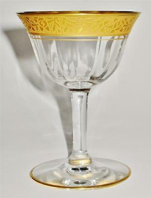 Tiffin RAMBLER ROSE Tall Champagne-Sherbet, Optic, Gold Encrusted 14196 - 4 7/8""