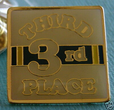"""THIRD 3RD PLACE"" Award Lapel Pins, Wholesale (25) NEW"