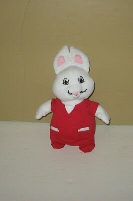 "Max Bunny Max and Ruby Nick Jr. 9"" Bean Plush In Removeable Red Outfit"