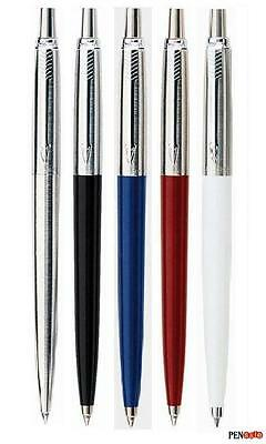 Parker Jotter Ballpoint Pen - Black / Blue / Red / White / Steel - Blue ink