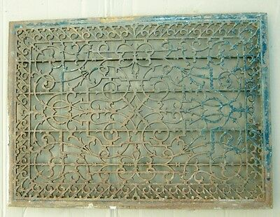 "Extra Large Antique Ornate Cold Air Return Floor Grate Grill 29""x40"" #1050-12"