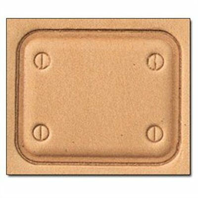 3D Stamp Tool Plate 8662-00 New by Tandy Leather Craftool