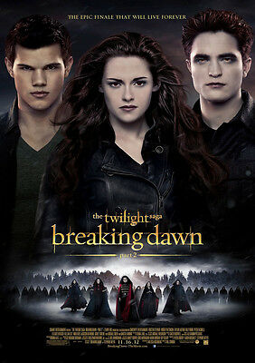 New Movie Poster Print: Twilight Breaking Dawn Pt 2 A3 / A4