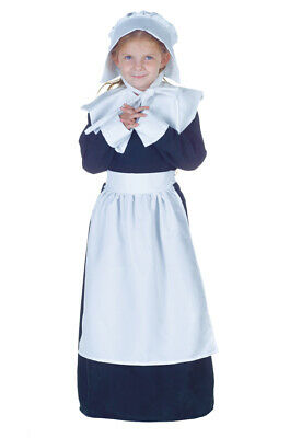 Pilgrim Girl Costume Child Colonial Underwraps 26947 Thanksgiving Halloween