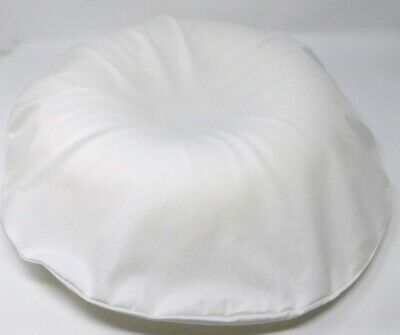Comfortnights Foam Donut Cushion/ring, complete with White poly cotton cover