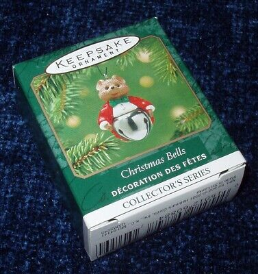 NEW 2001 Hallmark CHRISTMAS BELLS Mouse in Tails #7 Miniature Ornament Series