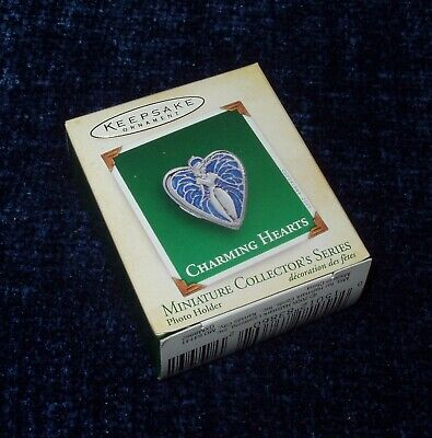 2005 Hallmark CHARMING HEARTS #3 Photo Holder LOCKET Miniature Ornament Series