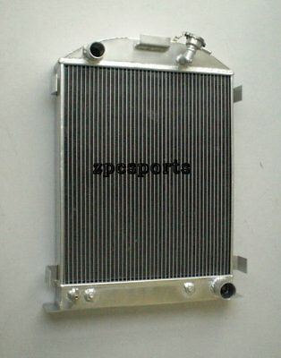 33-34 Ford Aluminum Radiator CHEVY-V8-Engine w/Cooler 1933 1934