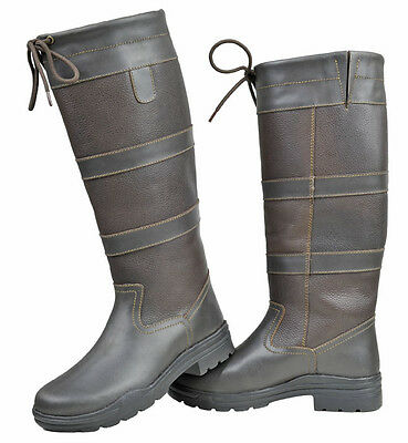 HKM Belmond Winter Riding Yard Boots Cosy Warm Brown Unisex