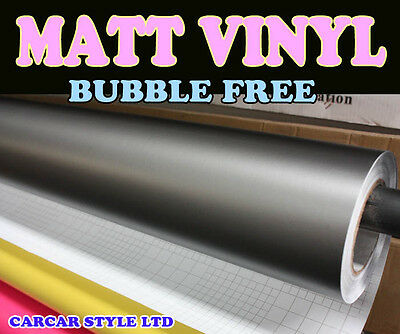 Matt【Grey 0.3 Meter x 1.52 Meter Air/Bubble Free 】Vehicle Wrap Vinyl  FULL CAR