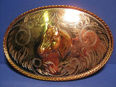 OLD COMSTOCK Silversmiths HORSE HEAD WESTERN Belt Buckle FREE SHIP & MAKE OFFER