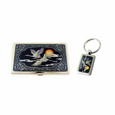 Korean najeonchilgi business name card holder key chain mother of mother of pearl business credit id card holder case key holder gift set 242 colourmoves