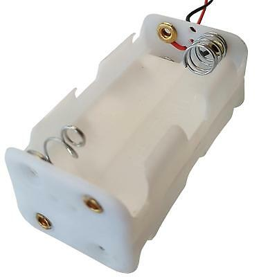 White AA x 4 Battery Holder With 12cm Leads