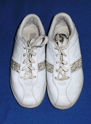 1b1b70810a9 Baby Phat white leather sneakers shoes with white rhinestones US ladies sz  3 1/2