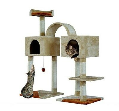 New Condo Cat Tree House Scratch Post Condo Pet Furniture With 2 Bedroom