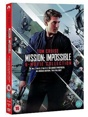 MISSION IMPOSSIBLE 1-6 (1996-2018): COMPLETE -  Eu Rg2 DVD not US - 6 Movie Set