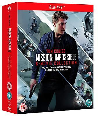 MISSION IMPOSSIBLE 1-6 (1996-2018): COMPLETE -  Rg FREE 7x BLU-RAY - 6 Movie Set