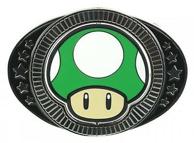 Nintendo MUSHROOM BELT BUCKLE Super Mario 1 Up Game 64 ds 3ds wii wiiu Men Women