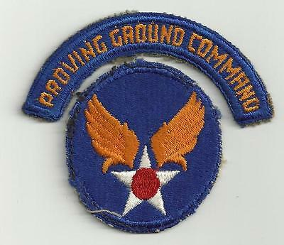 Proving Ground Command Army Air Force WWII Era Patch