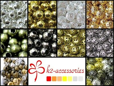 BUY 3 GET 3 FREE1000x 2mm 500x 3mm 400x 4mm 200x 6mm 100x 8mm Metal Spacer Beads