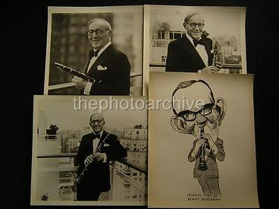 Benny Gooman Clarinetists Music VINTAGE 4 PHOTO LOT 585A