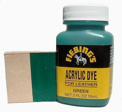 Fiebing's Acrylic Leather Dye Green Paint 2 oz. (59mL) 2604-06 ACRD42POO2Z