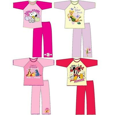 Kids Girls Cartoon Character 100% Cotton Long Sleeve Top Night Wear PJ Pyjama