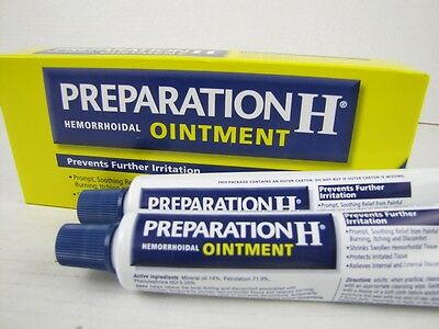 4.0oz 114g Preparation H Ointment Hemorrhoidal Hemorrhoids Relief Ointment Tubes