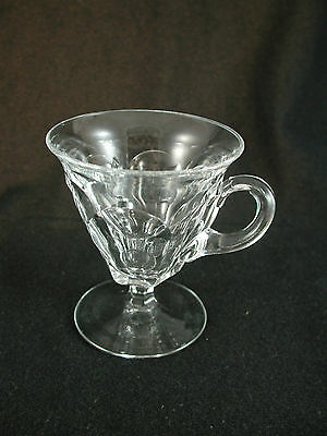 Heisey #1220 Footed 3.5 oz. SHERBET with HANDLE Crystal Glass