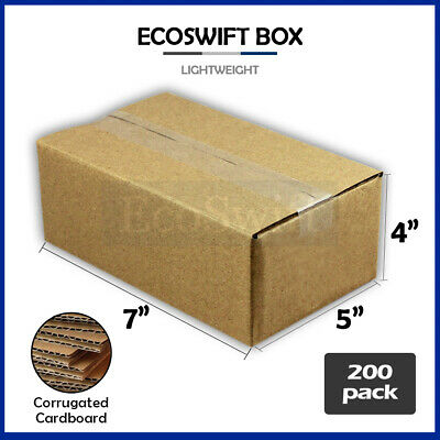 200 7x5x4 Cardboard Packing Mailing Moving Shipping Boxes Corrugated Box Cartons