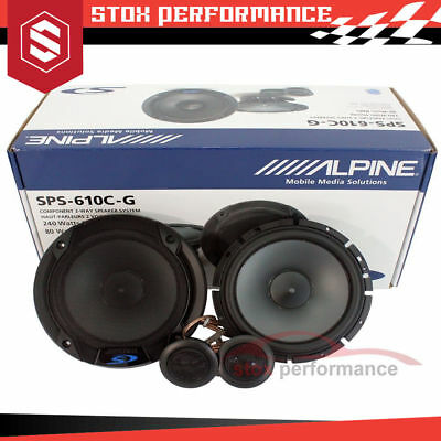 "New ALPINE SPS-610C -G Grilles 6.5"" TYPE S 2-Way 480W Component Car Speakers"