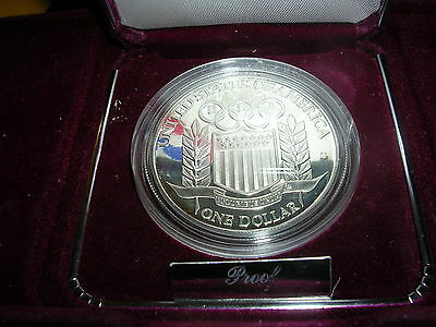 1992-S U.S. Olympic Coin Commemorative Gem Proof Silver Dollar  Free S/H!! #2476