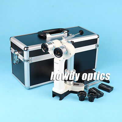 Portable slit lamp Hand held slit lamp microscope Alu. case Brand new
